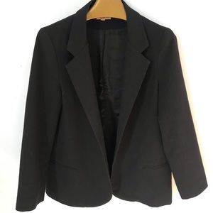 Silence + Noise over-sized boyfriend Black Blazer